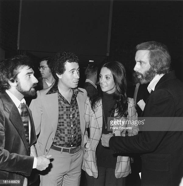 American filmmaker Martin Scorsese record executive David Geffen actress Marlo Thomas and screenwriter Robert Towne at a screening of Scorsese's...