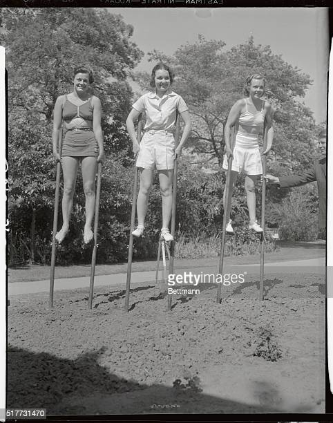 Left to right are Eleanor Holm, famous swimmer and holder of many swimming records and Wampus baby star of 1932; Marion Shockley, another Wampus baby...
