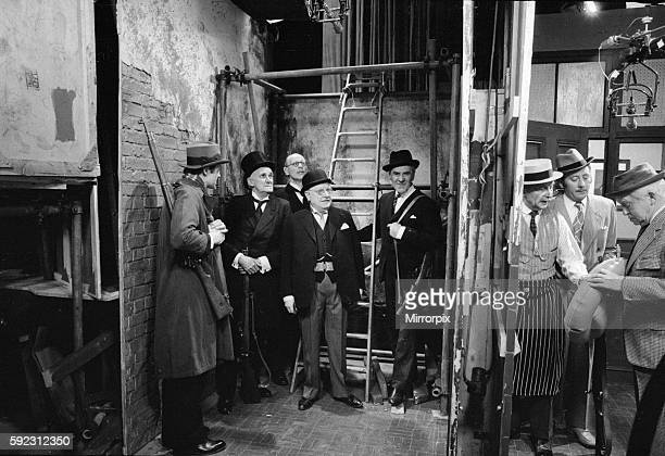 Left to right are Ian Lavender John Laurie town clerk Eric Longworth Arthur Lowe John Le Mesurier Clive Dunn James beck and Arnold Ridley December...