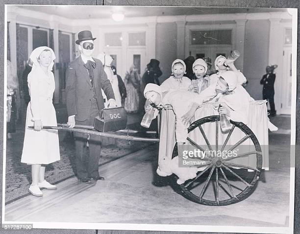Left to right are Miss Jane McMullen Hyannis E W Reinecke of Pinehurst Miss Carol and Annabel Hotchkiss New Haven Conn Lillian Ross Little Compton R...