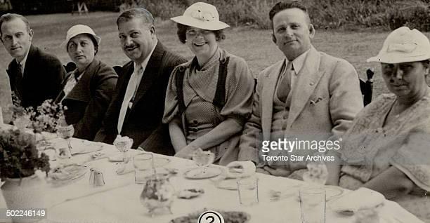 Left to Right are; Mr. Ambrose Harrison; Mrs. Joseph Bagnato; Mr. Steffano Darrigo; Mrs. Harrison; Mr. Bagnato and Mrs. Darrigo. [Incomplete]