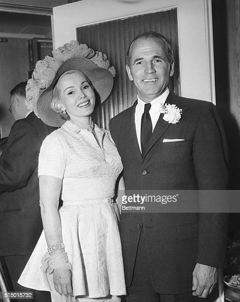 Left to right are Zsa Zsa Gabor and Hal Hayes