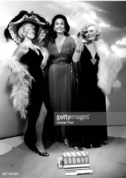 Left to Right Arlene Haley Sylvia Cohen and Dori Ladd Promo for Hollywood party at art museum Credit The Denver Post