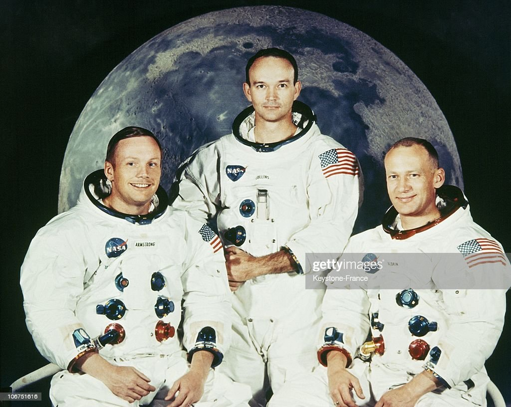 Neil Armstrong, Michael Collins And Edwin Aldrin In 1969 : News Photo