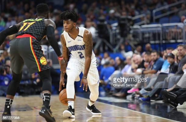 Left to Right Atlanta Hawks guard Dennis Schroder and Orlando Magic guard Elfrid Payton #xDThe Orlando Magic hots the Atlanta Hawks at Amway Center...