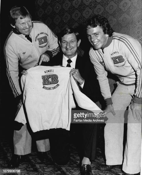 Left to Right Aust International coach Frank StantonNSWRFL President Mr Kevin Humphreys amp Aust international with Eastern Suburbs Kerry Boustead...