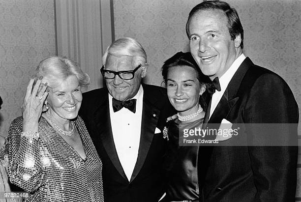 Barbara Harris and her husband Cary Grant with singer Jane Morgan and her husband producer Jerry Weintraub at the Plaza Hotel California April 1984