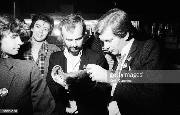 bassist Les Pattinson and singer Ian McCulloch of British band Echo and the Bunnymen BBC Radio 1 disc jockey John Peel and journalist and cofounder...