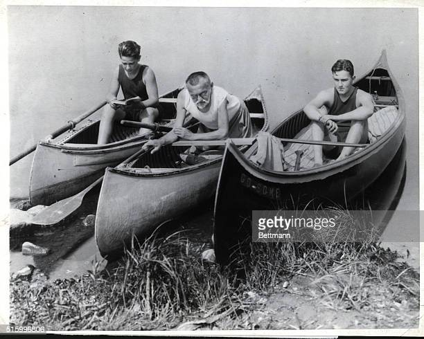Billy Hayden Dr Charles Steinmetz and Joe Hayden on one of their many canoe jaunts together Dr Steinmetz loving a family and having none of his own...