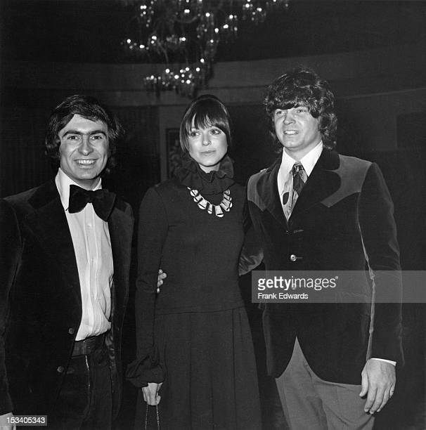Canadian standup comedian David Steinberg Ann Marshall and musician Don Everly at a TV Academy ball USA circa 1973