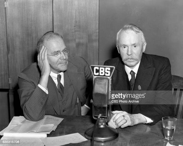 Left to right CBS Radio news commentator and analyst HV Kaltenborn and Czechoslovakian Vojta Benes brother to Edvard Benes President of...