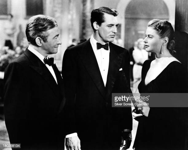 Claude Rains as Alexander Sebastian Cary Grant as TR Devlin and Ingrid Bergman as Alicia Huberman in 'Notorious' directed by Alfred Hitchcock 1946