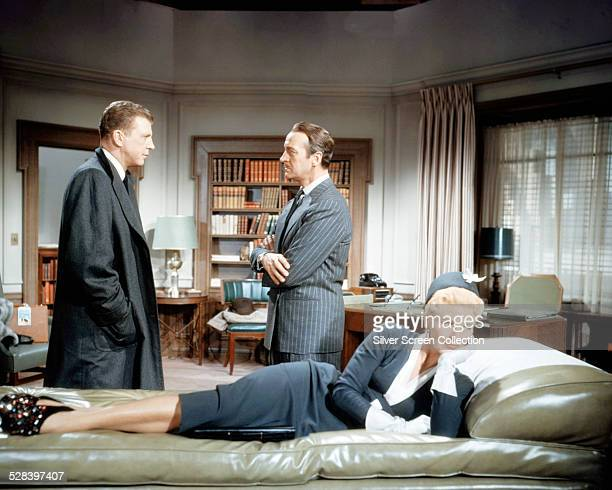 Dan Dailey as Arthur Turner David Niven as Dr Alan Coles and Ginger Rogers as Mildred Turner in 'Oh Men Oh Women' written and directed by Nunnally...