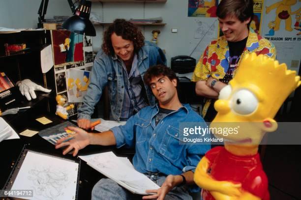 designer Scott Alberts producer David Silverman and director Mark Kirkland