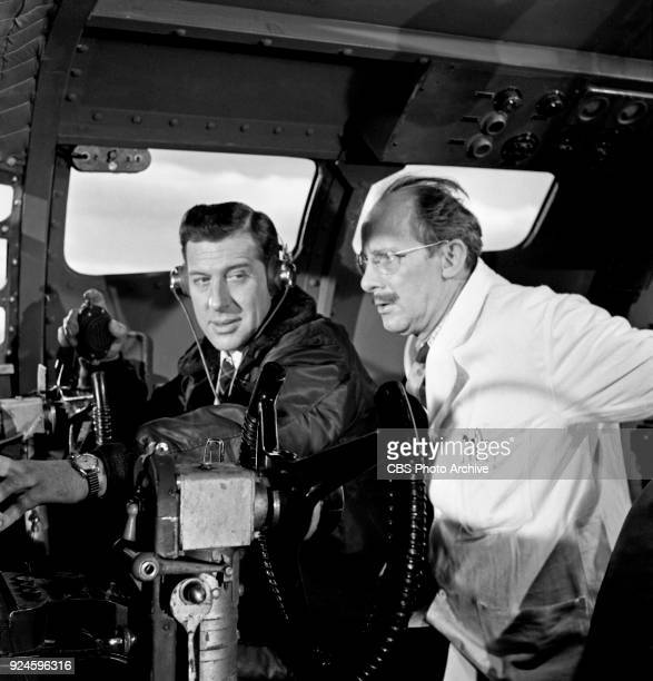left to right Duncan Lamont andJohn Rudling star in an episode of the CBS Television program The Invisible Man The episode is titled Point of...