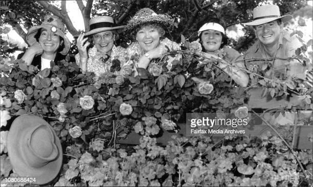 Elizabeth Luke, Valerie Swane, Shirley Stackhouse, Sandra Ross, Graham Ross. Don Burke could be there but sent his hat . November 12, 1991. .