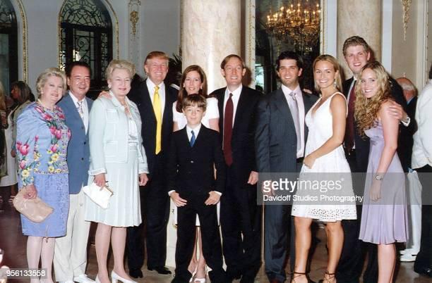 Left to right Elizabeth Trump Grau her husband Jim Grau Judge Maryanne Trump Barry Donald Trump Lisa Desmond her son Robert David Desmond Donald...