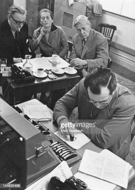 English producer Walter Legge Hungarian pianist Annie Fischer her husband Hungarian musicologist Aladar Toth and German conductor Wolfgang Sawallisch...