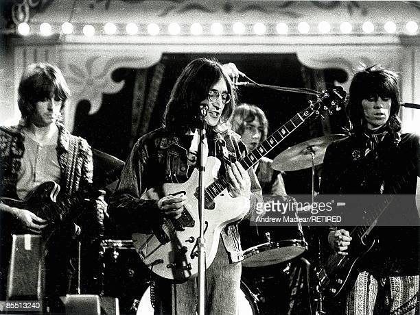Photo of John LENNON LR Eric Clapton John Lennon Mitch Mitchell Keith Richards performing live onstage as The Dirty Mac on The Rolling Stones' 'Rock...