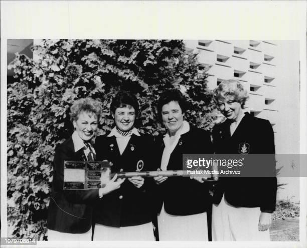 Four women from the Women's Royal English Navy the WrensAnnette Anderson/ Treasure Jane Marshall/ Secretary Joan Evans/ President Doreen Dooley/...