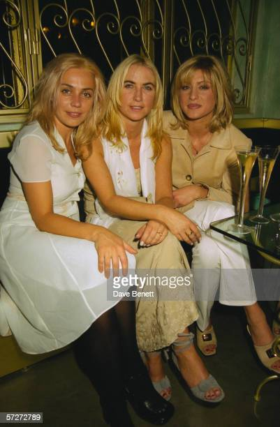 French actress Jeanne Marine Meg Matthews wife of Noel Gallagher of Oasis and TV presenter Danni Behr at a party at the Alberta Ferretti fashion shop...