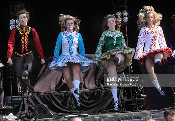 Left to right Grady McDevitt Katie Caler Kate OlsenStucking and Amber Walker with the O'neillJames School of Irish Dancing perform at The 11th Annual...