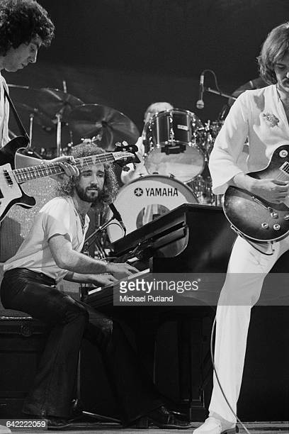 Graham Gouldman Kevin Godley and Rick Fenn performing with English rock band 10cc USA November 1978
