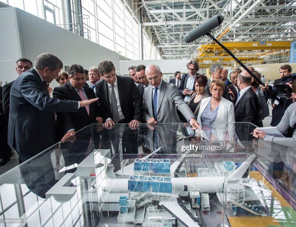 German And French Economy Ministers Visit The Airbus Group NV Factory