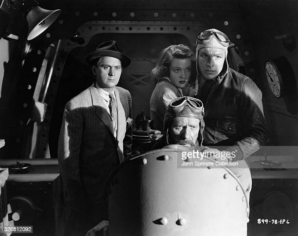 Happy Hapgood Dale Arden Flash Gordon and at the controls Dr Zarkov in Flash Gordon's Trip to Mars