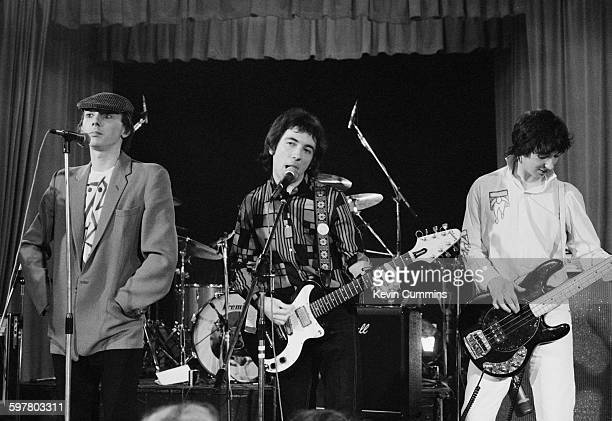 Howard Devoto Pete Shelley and Steve Diggle of English punk rock group Buzzcocks at the Lesser Free Trade Hall Manchester 21st July 1978 The group...