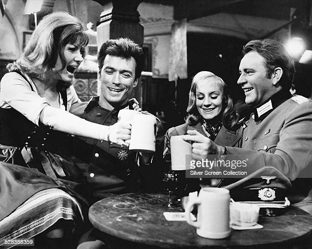 Ingrid Pitt as Heidi Clint Eastwood as Lieutenant Morris Schaffer Mary Ure as Mary Elison and Richard Burton as Major Jonathan Smith in 'Where Eagles...