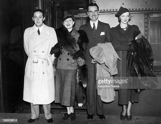Left To Right Irving Thalberg Mgm Director His Wife The Actress Norma Shearer Actor John Gilbert And Actress Virginia Bruce Young Wife Of The Latter...