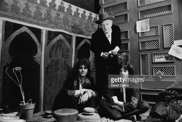 James Fox photographer Cecil Beaton and Mick Jagger on the set of the crime drama 'Performance' London 2nd November 1968 Jagger and Fox costar as...