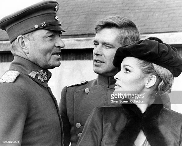 James Mason as General Count von Klugermann George Peppard as Leutnant Bruno Stachel and Ursula Andress as Countess Kaeti von Klugermann in 'The Blue...