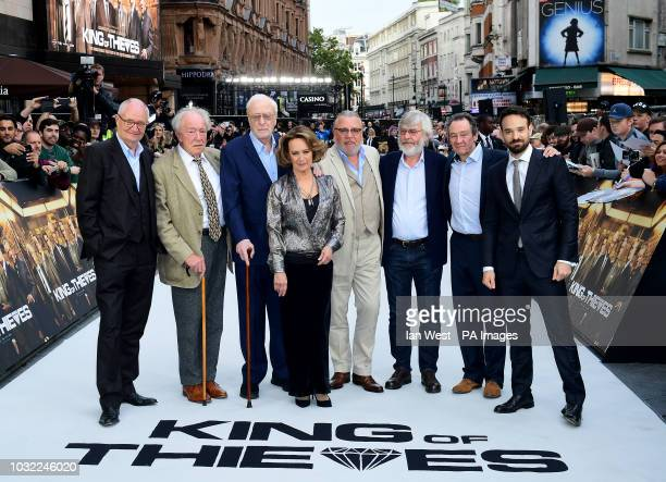 Left to right Jim Broadbent Sir Michael Gambon Sir Michael Caine Francesca Annis Ray Winstone Sir Tom Courtenay Paul Whitehouse and Charlie Cox...