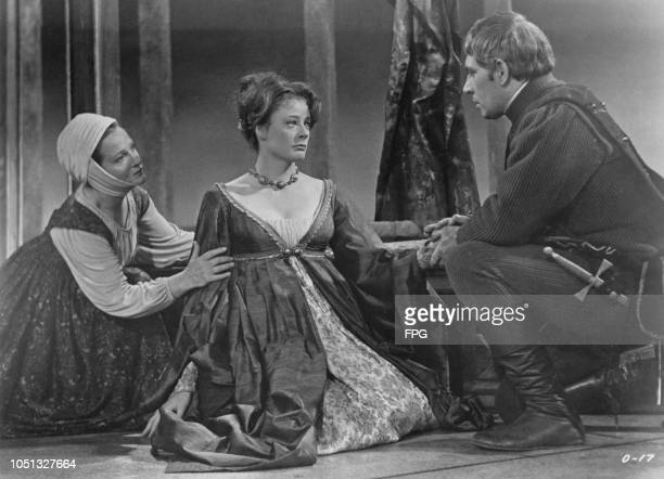 Joyce Redman as Emilia Maggie Smith as Desdemona and Laurence Olivier as Othello in Stuart Burge's film version of Shakespeare's 'Othello' Shepperton...