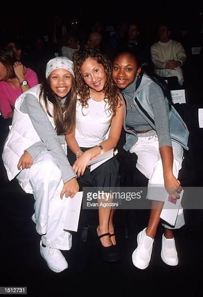 Left to right Kiely Alexis Williams Adrienne Eliza Bailon and Naturi Cora Maria Naughton of the group 3LW pose for photographers at the Luca Luca...
