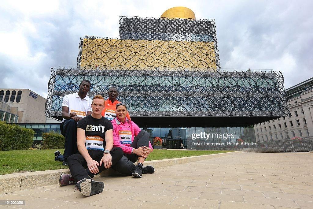 Sainsbury's Birmingham Grand Prix - GB Press Conference : News Photo