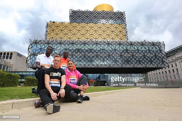 Left to right Kirani James of Grenada Greg Rutherford of Great Britain David Rudisha of Kenya and Valerie Adams of New Zealand during a photocall...