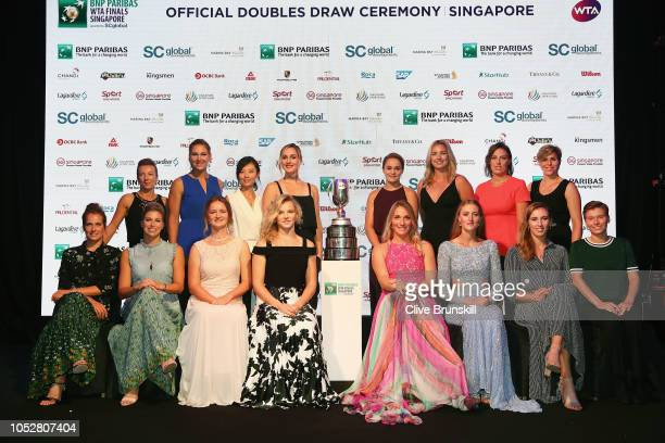 Left to right Kveta Peschke of the Czech Republic Nicole Melichar of the United States Xu Yifan of China Gabriela Dabrowski of Canada WTA Legend...