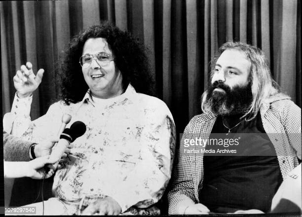 Left to Right Mark Volman and Howard Kaylan at their Press Conference at Sydney International Airport todayThe Rock Satire group Flo and Eddie...