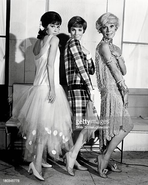 Mary Tyler Moore as Miss Dorothy Brown Julie Andrews as Millie Dillmount and Carol Channing as Muzzy Van Hossmere in a promotional portrait for...