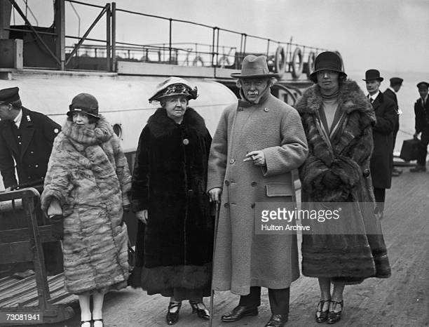 Megan Lloyd George Margaret Lloyd George her husband former British Prime Minister David Lloyd George and his daughter Lady Olwen CareyEvans at...