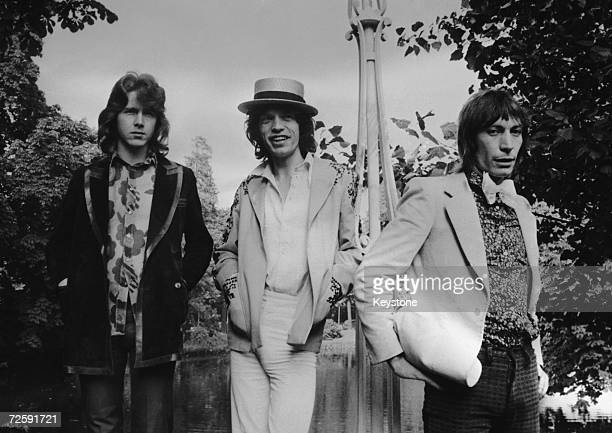 Mick Taylor Mick Jagger and Charlie Watts of the Rolling Stones in Paris before a concert 23rd September 1970