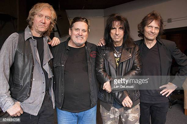 Neal Smith Michael Bruce Alice Cooper and Dennis Dunaway The remaining original members of the Alice Cooper Group after a rehearsal for their...