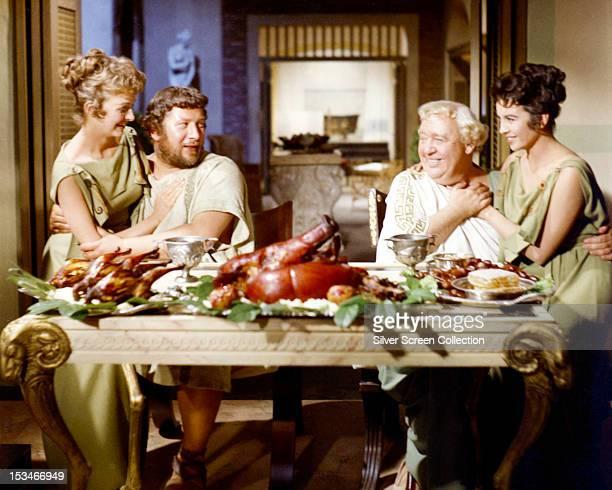 Nina Foch as Helena Glabrus Peter Ustinov as Lentulus Batiatus Charles Laughton as Roman senator Gracchus and Joanna Barnes as Claudia Marius in...