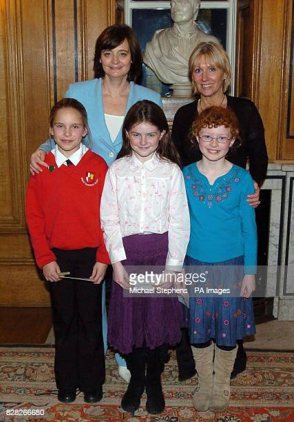 Olivia CohenHill Cherie Blair Isobelle Whinnett Nadine Dorries MP for Mid Bedfordshire and Amy Folley during a tea party Thursday 15 December 2005...