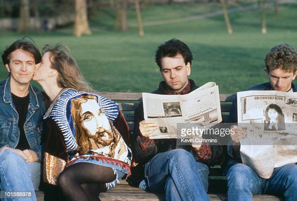 Left to right Paddy McAloon Wendy Smith Neil Conti and Martin McAloon of British band Prefab Sprout in 1988