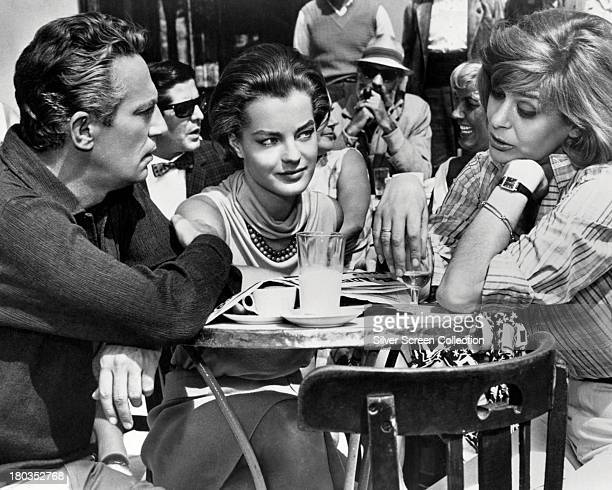 Peter Finch as Paul Romy Schneider as Clair and Melina Mercouri as Maria in '1030 PM Summer' directed by Jules Dassin 1966
