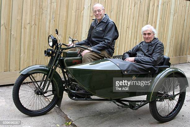Peter Shephard and brother Denis in sidecar Peter Shephard and his 1923 HarleyDavidson motorbike and sidecar with brother Denis Bike previously owned...